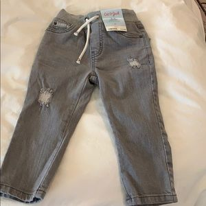 Distressed grey jeans.  Cat & Jack boys size 2T